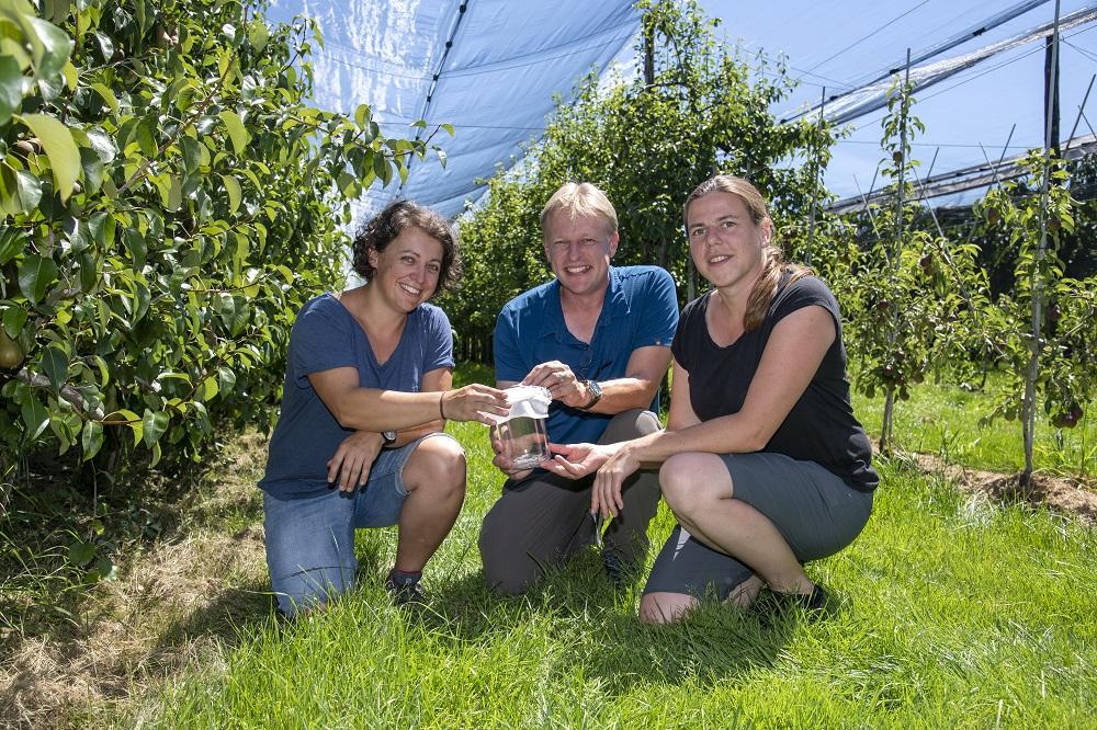 Tim Haye with Barbara Egger and Jana Collatz from Agroscope