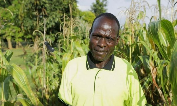 Timothy Okumu, a farmer in Bungoma, who used the mating disruption pheromone on his farm (Credit: CABI).