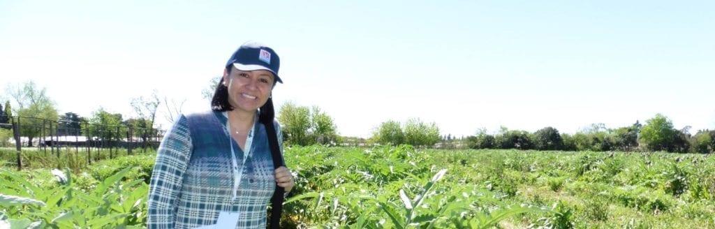Yelitza Colmenarez conducting fields trials
