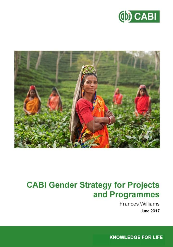 Front cober of CABI Project and Programme Gender Strategy