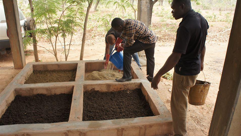 Installationof fly rearing facility in Burkino Faso