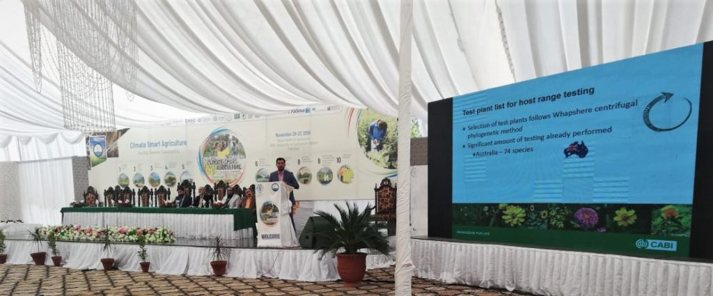 Dr Kazam Ali at International Conference on Climate Smart Agriculture