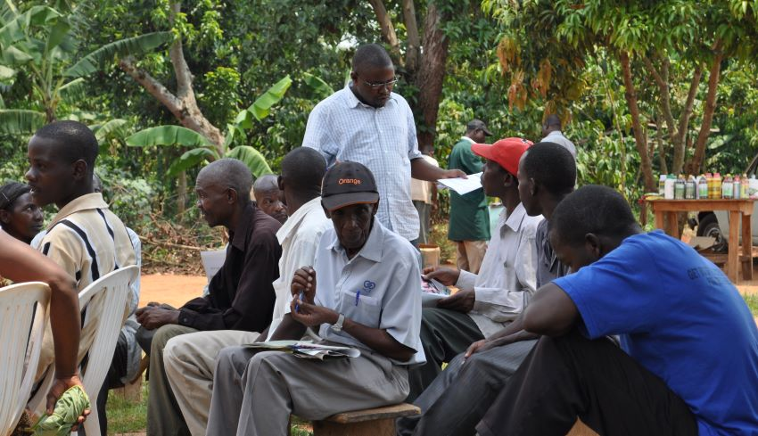 Ugandan Farmers at Plant Clinic