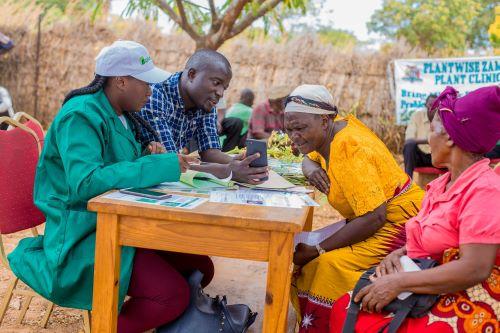 Plant clinic in Zambia