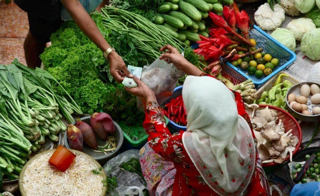 woman in a market